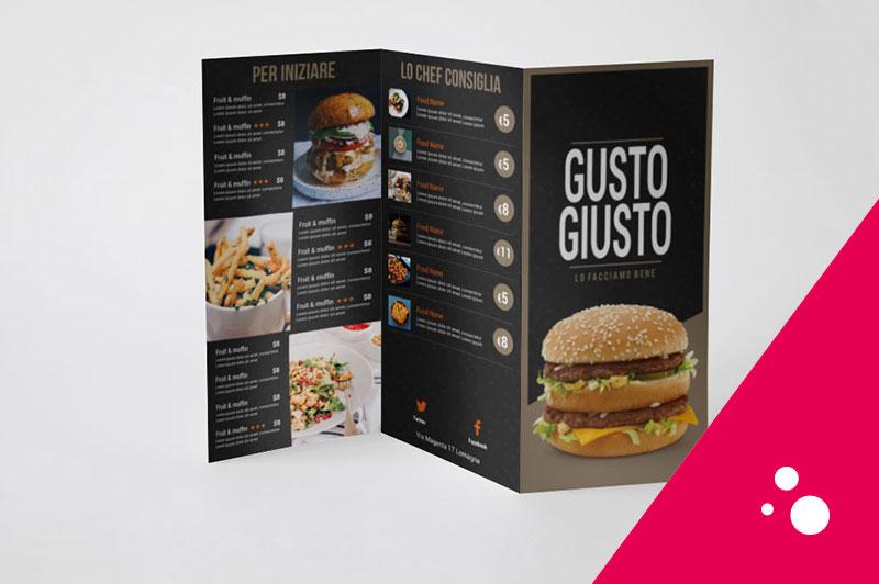 grafica menu-ristorante-e-bar-pub