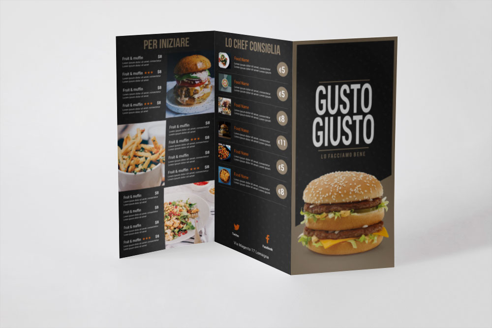 grafica menu-ristorante-e-bar-pub