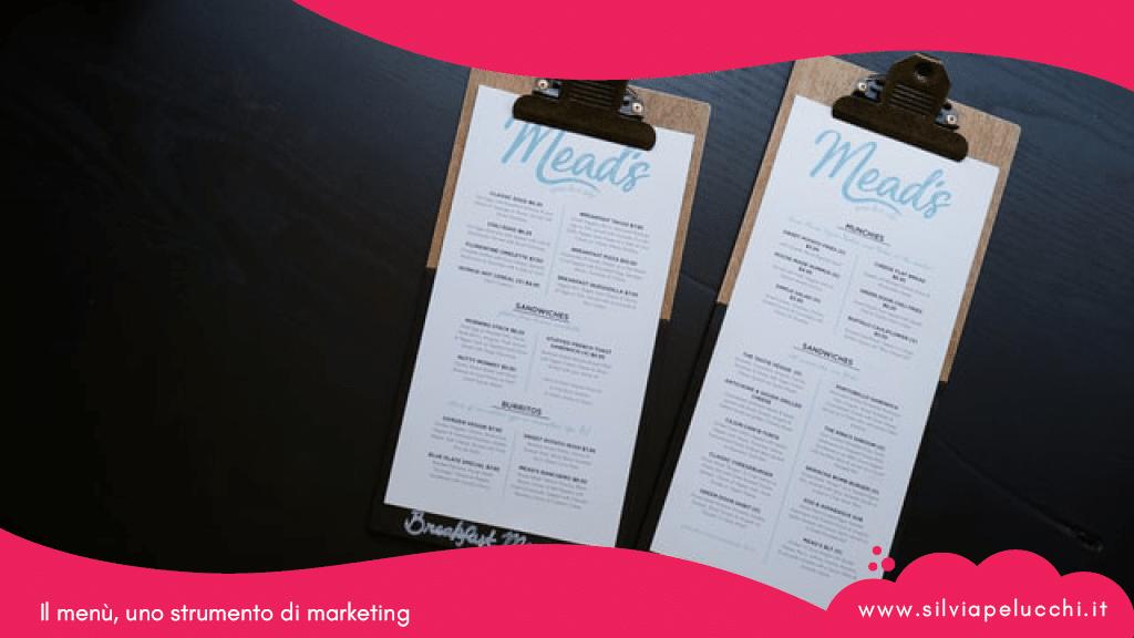 Il menù, uno strumento di marketing